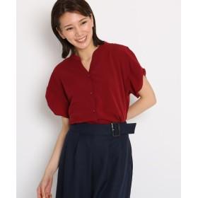AG by aquagirl(エージー バイ アクアガール) 【洗える】パウダージョーゼットタック袖スキッパーシャツ