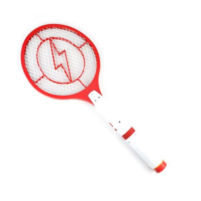 可拆式充電式電蚊拍 手電筒電蚊拍 LED 手電筒 三層網(限宅)【DQ316】