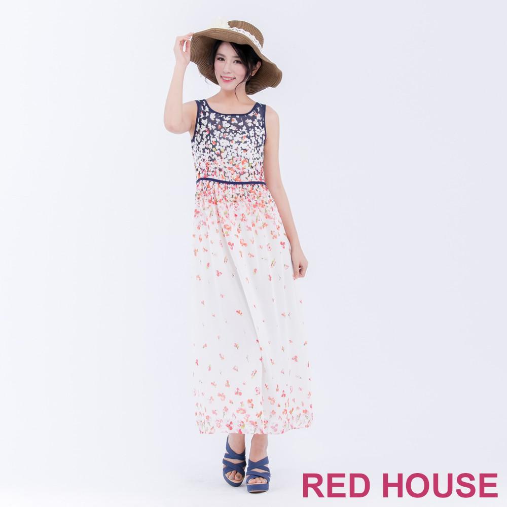 【RED HOUSE 蕾赫斯】花朵背心長洋裝