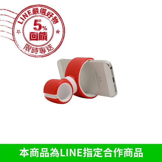 硬矽膠手機支架夾 『無名』 M01111