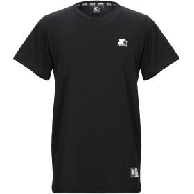 《期間限定 セール開催中》STARTER メンズ T シャツ ブラック S コットン 100%