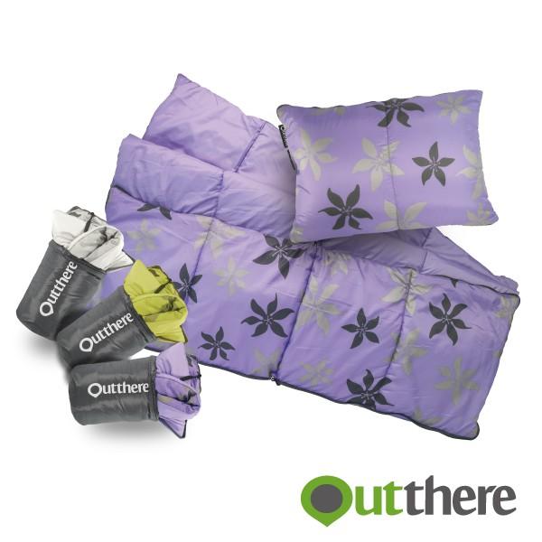 【好野Outthere】舒毯枕-珍珠白/時尚紫/大地綠/3色可選/中層鋪棉/獨家印花/多功能休閒毯