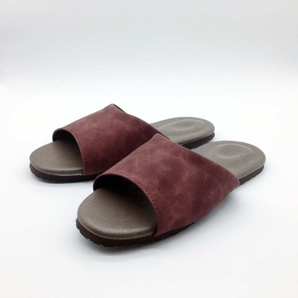 【iSlippers】風格系列-麂皮皮質室內拖鞋-紅 [台灣犀利趴]