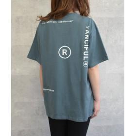 【35%OFF】 フェルトマリエッタ 英字ロゴオーバーサイズTシャツ レディース ブルー フリー 【felt maglietta】 【タイムセール開催中】