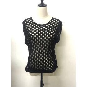 カットソー - shoppinggo Tシャツレディース 透かし彫り カットソー 大きいサイズ 透け感 メッシュ ニット カジュアル