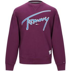 《期間限定 セール開催中》TOMMY JEANS メンズ スウェットシャツ モーブ XS コットン 100%