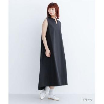 メルロー キーネックノースリーブワンピース レディース ブラック FREE 【merlot】