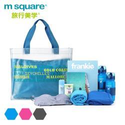 m square 字母防水單肩包