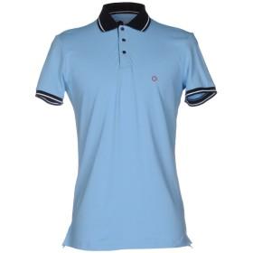 《期間限定セール開催中!》BAGUTTA メンズ ポロシャツ アジュールブルー M コットン 100%