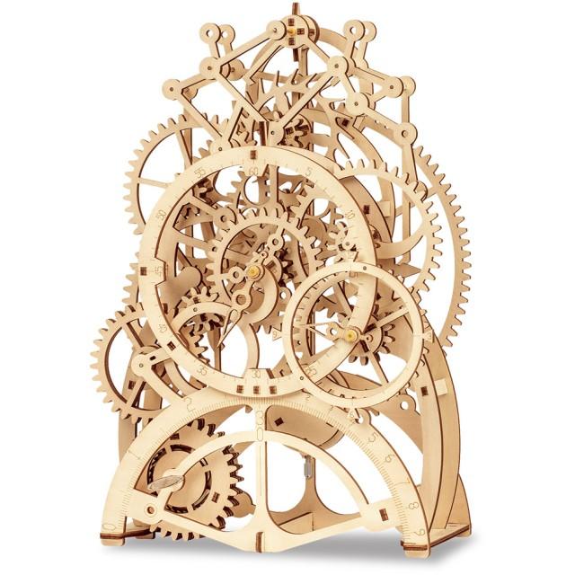 動く3Dウッドパズル 振り子時計
