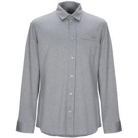 《期間限定セール開催中!》BIKKEMBERGS メンズ シャツ ライトグレー XXL コットン 100%
