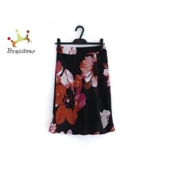 マテリア MATERIA スカート サイズ36 S レディース 美品 黒×レッド×マルチ 花柄 新着 20190709