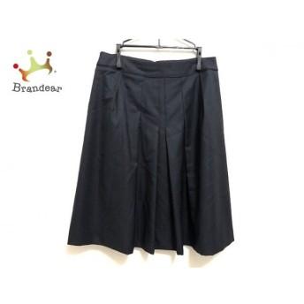 ニジュウサンク 23区 スカート サイズ38 M レディース 美品 ネイビー 新着 20190709