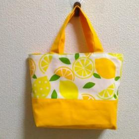ビタミンカラーのトートバッグ レモン