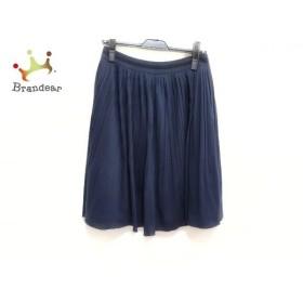 アマカ AMACA スカート サイズ38 M レディース 美品 ネイビー プリーツ 新着 20190709