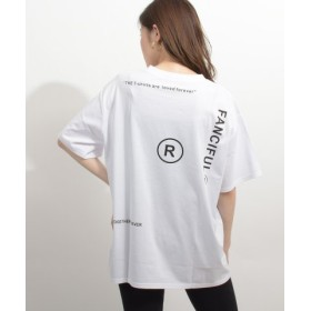 felt maglietta フェルトマリエッタ 英字ロゴオーバーサイズTシャツ