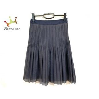 ニジュウサンク 23区 スカート サイズ40 M レディース 美品 ネイビー 新着 20190709
