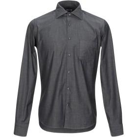 《期間限定セール開催中!》BORSA メンズ デニムシャツ ブラック 39 コットン 97% / ポリウレタン 3%