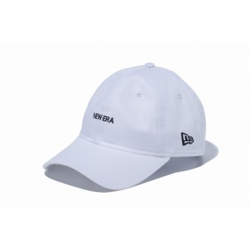 【ニューエラ公式】 9THIRTY クロスストラップ NEW ERA ミニロゴ ホワイト × ブラック メンズ レディース 56.8 - 60.6cm キャップ 帽子 12026711 NEW ERA