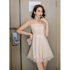 夏 セクシーなメッシュスカート ワンピース シェーミングドレス パーティドレス ミニドレス ツーレイヤー スリム薄い S M L XL