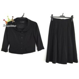 コージワタナベ スタイル スカートスーツ サイズ7 S レディース 黒 3点セット/リボン/プリーツ  値下げ 20190914