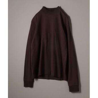 シップス SHIPS JET BLUE: ヘビーウェイト モックネックTシャツ メンズ ブラウン MEDIUM 【SHIPS】