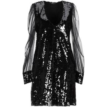 《セール開催中》CARLA G. レディース ミニワンピース&ドレス ブラック 40 ポリエステル 100% / レーヨン / ポリウレタン / ナイロン