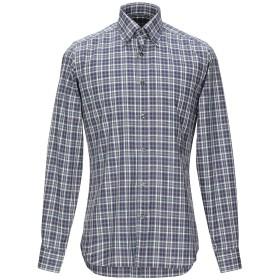《期間限定セール開催中!》CALIBAN メンズ シャツ ブルー 38 コットン 100%