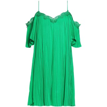 《セール開催中》ALICE + OLIVIA レディース ミニワンピース&ドレス グリーン L レーヨン 100% / ポリエステル