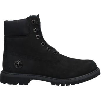 《セール開催中》TIMBERLAND レディース ショートブーツ ブラック 6.5 革 / 紡績繊維