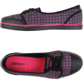 《セール開催中》ADIDAS レディース スニーカー&テニスシューズ(ローカット) ブラック 5.5 革 / 紡績繊維