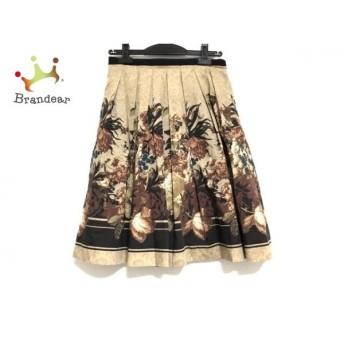 ロイスクレヨン スカート サイズM レディース 美品 ベージュ×ブラウン×マルチ 花柄 新着 20190709
