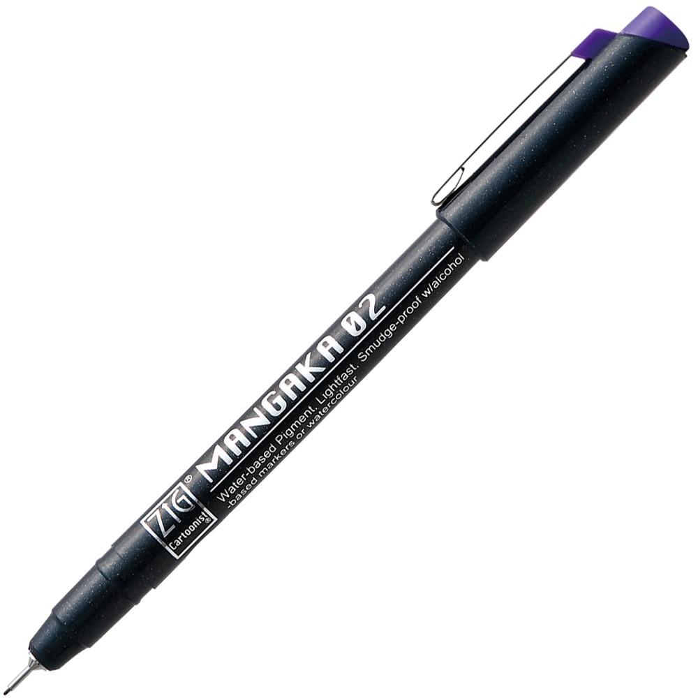 【Kuretake 日本吳竹】 CNM-02-085 0.2 吳竹漫畫代針筆 紫色
