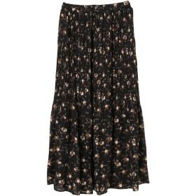 【6,000円(税込)以上のお買物で全国送料無料。】花柄消しプリーツスカート