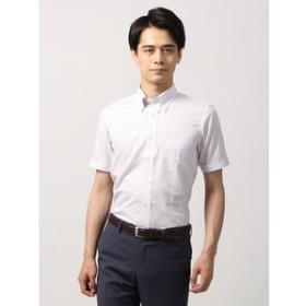 【THE SUIT COMPANY:トップス】【半袖】ボタンダウンカラードレスシャツ オルタネートストライプ 〔EC・BASIC〕