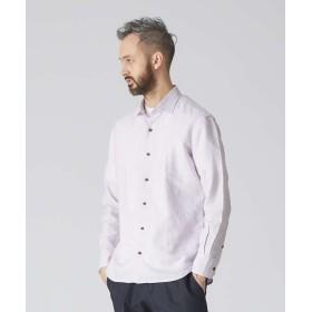 アバハウス リネンコットンドビーシャツ メンズ ラベンダー 46 【ABAHOUSE】