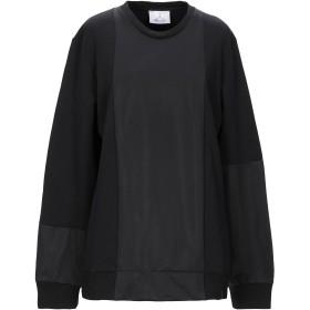 《期間限定 セール開催中》BERNA レディース スウェットシャツ ブラック L コットン 75% / ポリアクリル 25%