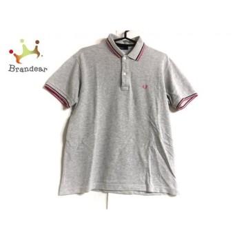 フレッドペリー FRED PERRY 半袖ポロシャツ サイズL メンズ ライトグレー×マルチ 新着 20190709