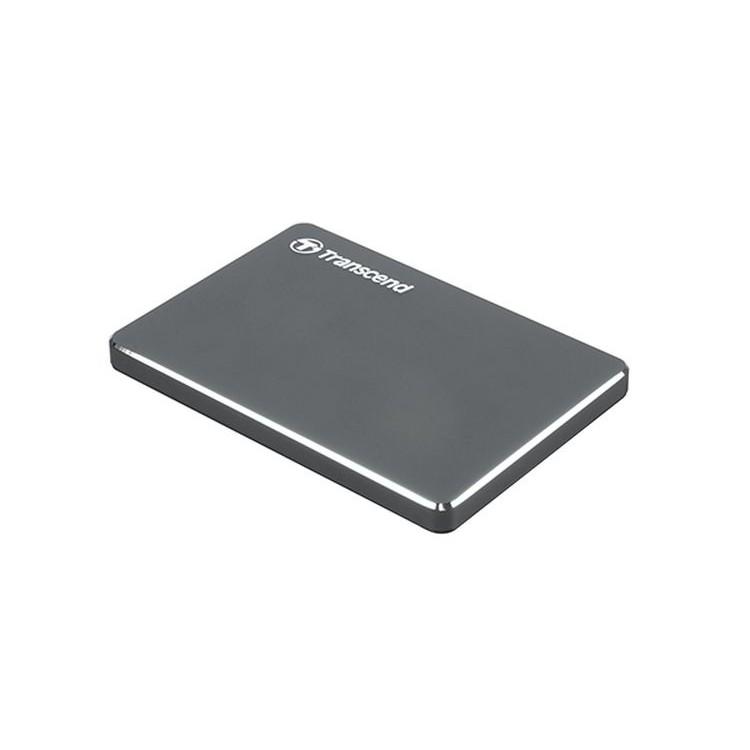 創見25C3N 2.5吋 2TB U3鋁合金輕薄行動硬碟(鐵灰)