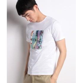 【30%OFF】 スペンディーズストア ガーゼロゴ半袖Tシャツ メンズ ホワイト L 【SPENDY'S Store】 【セール開催中】