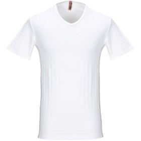 《期間限定セール開催中!》JOHN GALLIANO メンズ T シャツ ホワイト 46 ナイロン 85% / ポリウレタン 15%