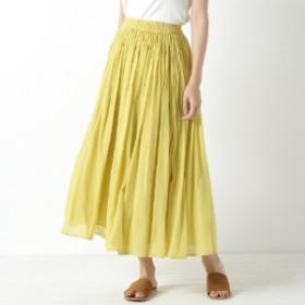 秋カラー◎インド綿ボイル素材のカラースカート