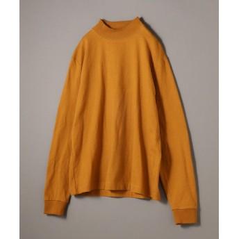 シップス SHIPS JET BLUE: ヘビーウェイト モックネックTシャツ メンズ オレンジ系 MEDIUM 【SHIPS】