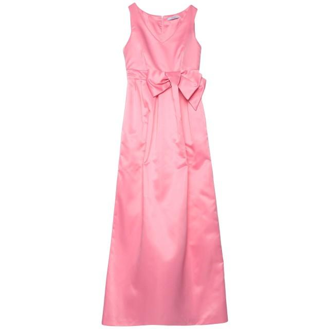 《期間限定 セール開催中》LANACAPRINA レディース ロングワンピース&ドレス ピンク 42 ポリエステル 100%