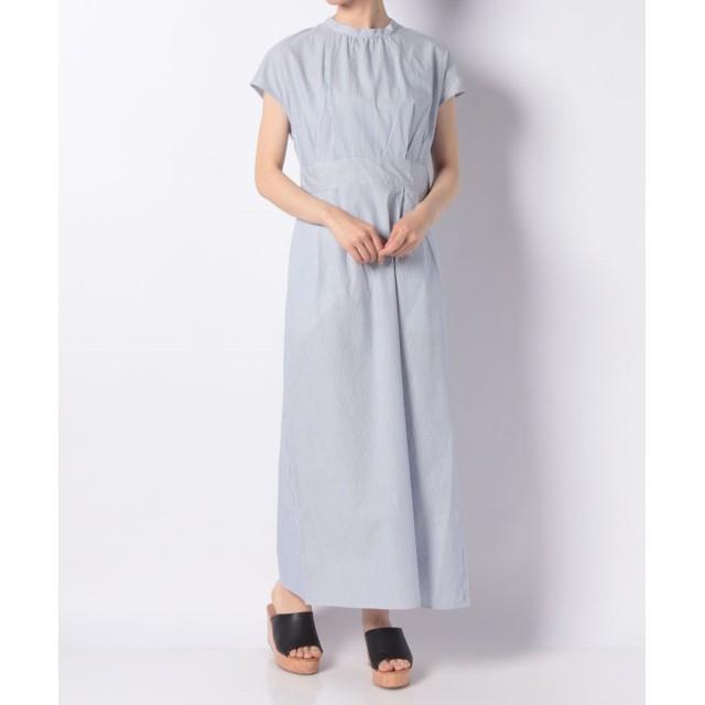 モックネックドレス