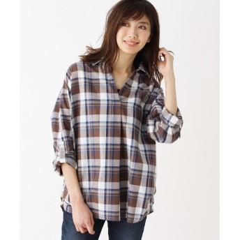 シャツ - SHOO・LA・RUE 【イージーケア】洗濯後シワになりにくいタンク付きスキッパーシャツ