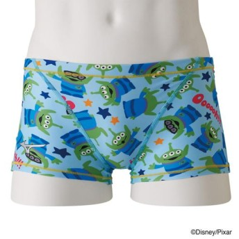 MIZUNO SHOP [ミズノ公式オンラインショップ] 競泳練習用【Disney/TOY STORY】ショートスパッツ[メンズ] 24 ターコイズ N2MB9580
