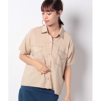 【23%OFF】 ウィゴー WEGO/ステッチポケットシャツ レディース ベージュ F 【WEGO】 【セール開催中】