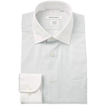 【THE SUIT COMPANY:トップス】【COOL MAX】クレリック&ワイドカラードレスシャツ 織柄 〔EC・FIT〕