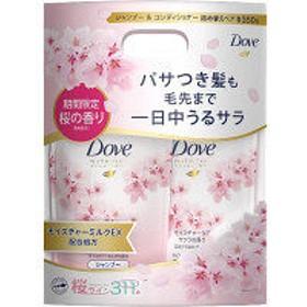 【アウトレット】ユニリーバ ダヴ(Dove) モイスチャーケア サクラ シャンプー&コンディショナー 各350g 詰め替えペア 1セット